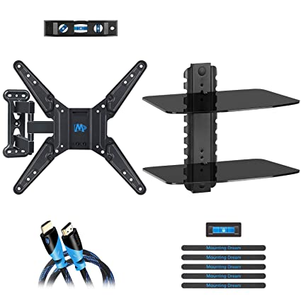 892d4313b9c Mounting Dream Full Motion TV Wall Mount of 26-55 inch TV and DVD Floating