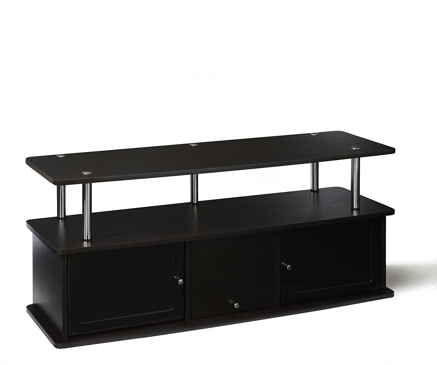 Ordinaire Amazon.com: Convenience Concepts Designs2Go TV Stand With 3 Cabinets For  Flat Panel TVu0027s Up To 50 Inch Or 85 Pounds, Dark Espresso: Kitchen U0026 Dining