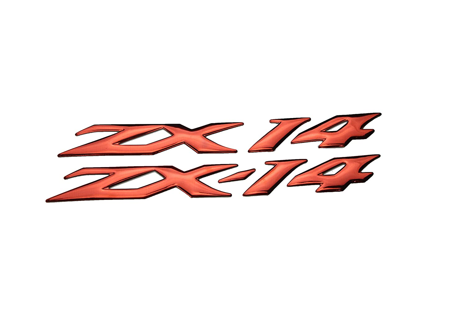 PRO-KODASKIN Motorcycle 3D Raise ZX-14 Emblem Sticker Decal for Kawasaki ZX-14R ZZR1400 (Silver)