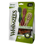 Whimzees Natural Dental Dog Treats, Toothbrush, X-Small, 48 -Pieces