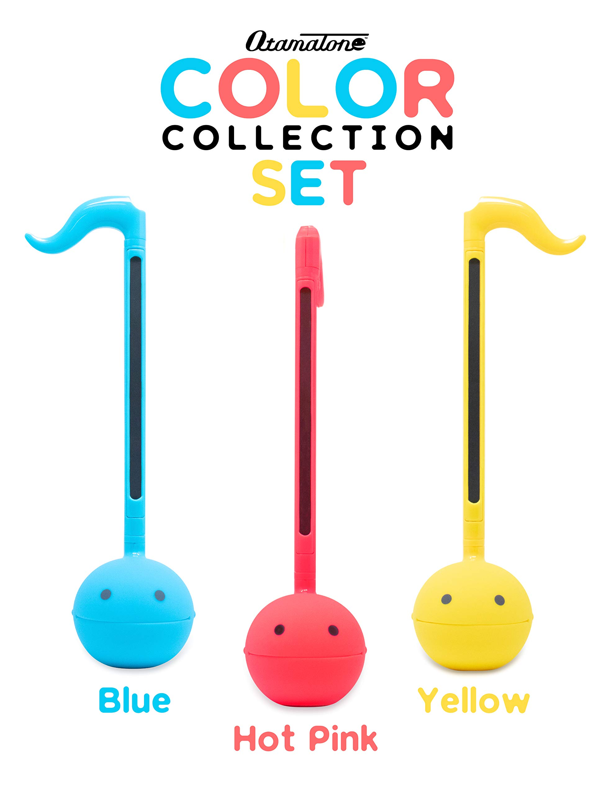 Otamatone''SPECIAL COLOR COLLECTION SET'' [Blue + Hot Pink + Yellow] Japanese Electronic Musical Instrument Portable Synthesizer from Japan by Cube/Maywa Denki [Japanese Edition]