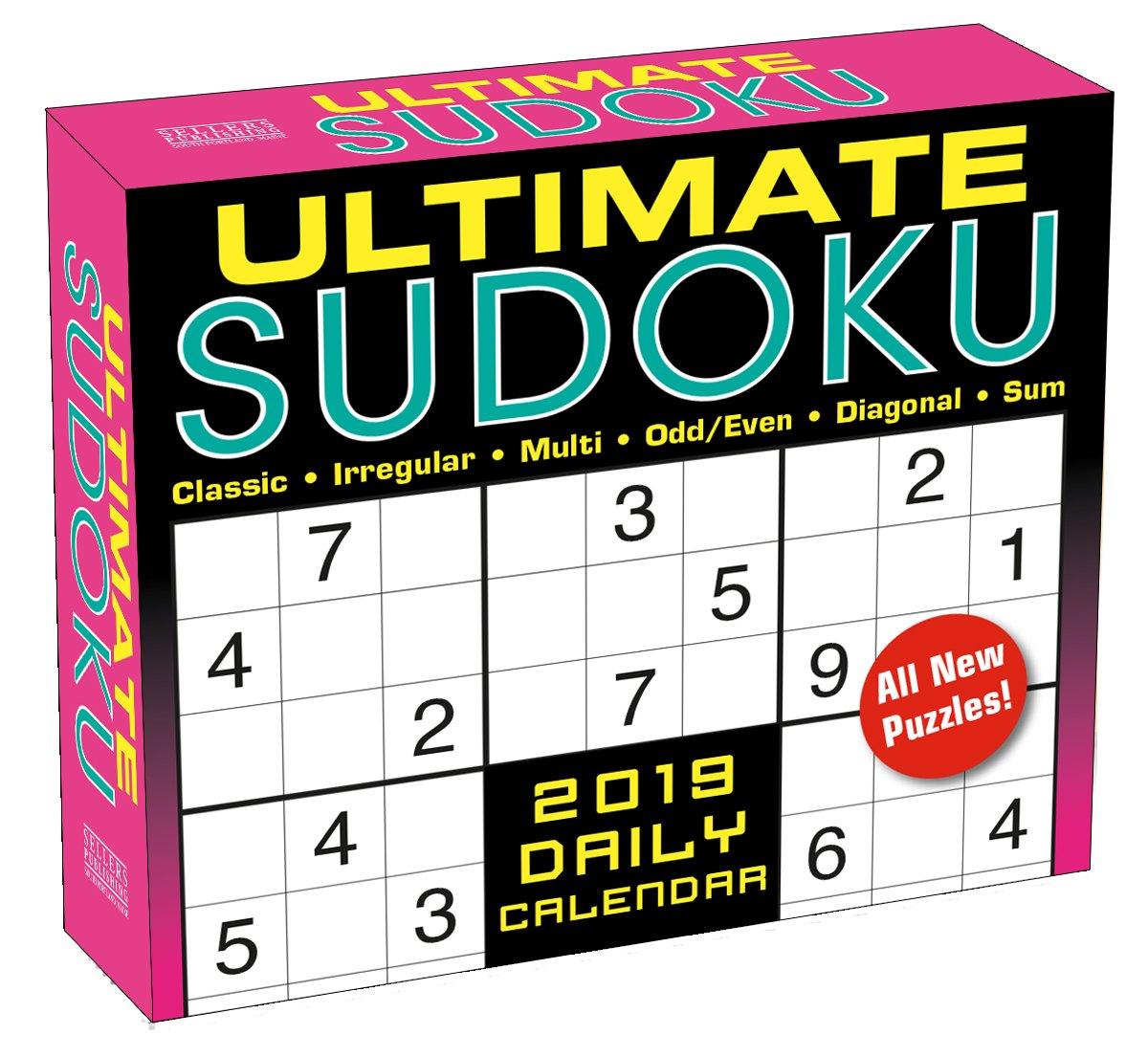 Ultimate Sudoku 2019 Boxed Daily Calendar, 6 x 5, (CB-0530)
