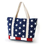 Stars and Stripes USA Flag Canvas Tote Bag