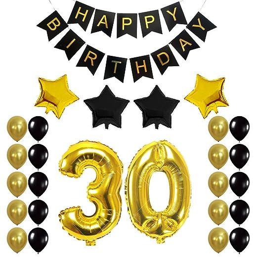 Yajiun Globos 30 cumpleaños, 30E cumpleaños Fiesta ...
