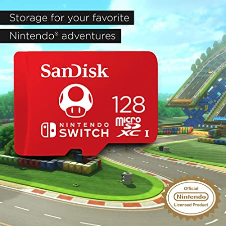 SanDisk 128GB MicroSDXC UHS-I Memory Card for Nintendo Switch - SDSQXAO-128G-GNCZN