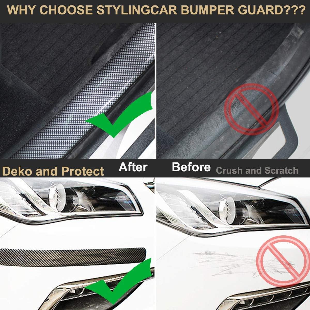 Protezione Soglia Auto CompraFun Nastro Antiurto per Paraurti Nastro per Auto Banda di Protezione 250 x 5 cm Protezione Universale in Fibra di Carbonio