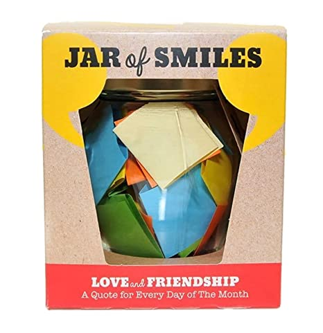 32508a191da5 Love   Friendship in a Jar. Month of Thoughtful   Happy Quotations For Your  Friends in a 314ml Orcio Glass Jar 31 Multi-Colored Quotes.