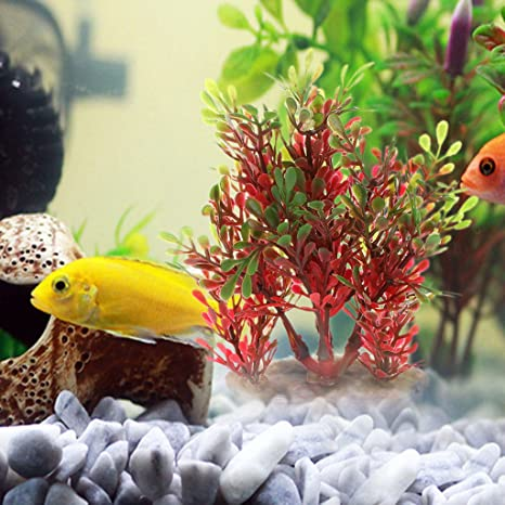 Exing Fish Tank - Adorno para Acuario bajo el Agua, Plantas Artificiales, Piedra Colorida y Estable: Amazon.es: Productos para mascotas