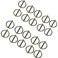 eje Los pasadores de traba de 4,5mm Clip abrazadera Pasador de elevaci/ón 10PC Tr/áileres