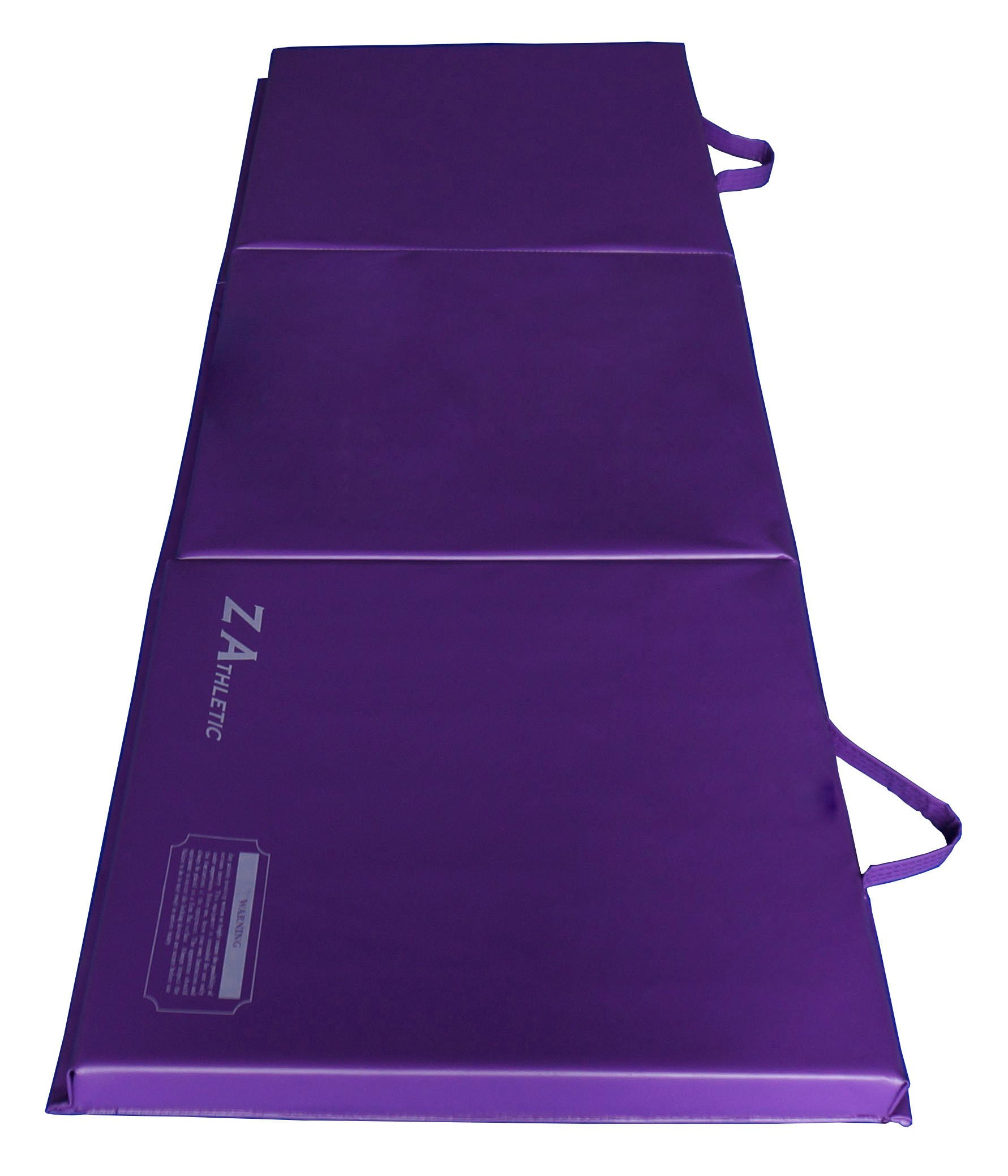Z-Athletic Folding Panel Mats for Gymnastics, Yoga, Martial Arts, & Tumbling (2ft x 6ft x 2in, Purple)