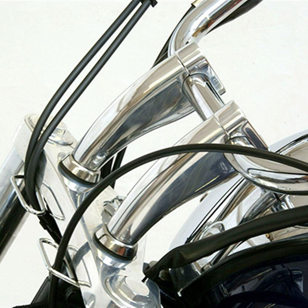 INNOGLOW Motorcycle Handlebar Risers 1 1//8 28mm Black Motor Billet Handlebar Fat Bar Mount Clamp Riser for Honda Suzuki 2pcs