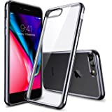 Cover iPhone 8 Plus [Supporta la Ricarica Wireless], Cover iPhone 7 Plus, ESR Custodia Trasparente Morbida di TPU [Ultra Leggere e Chiaro] con Paraurti Placcati per Apple iPhone 8/7 Plus da 5.5 pollici. (Nero)