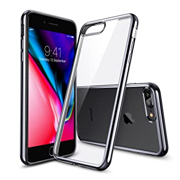 34e735c5706 ESR Funda para iPhone 8 Plus/ 7 Plus, Transparente Suave TPU Gel [Ultra