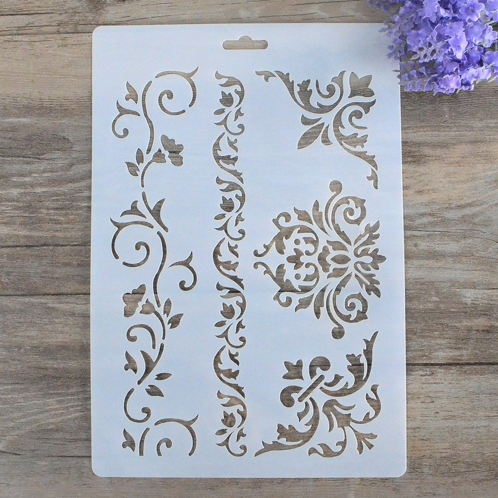 DIY Decorative Stencil Template for Painting on Walls Furniture Crafts by SLGIFT (Image #1)