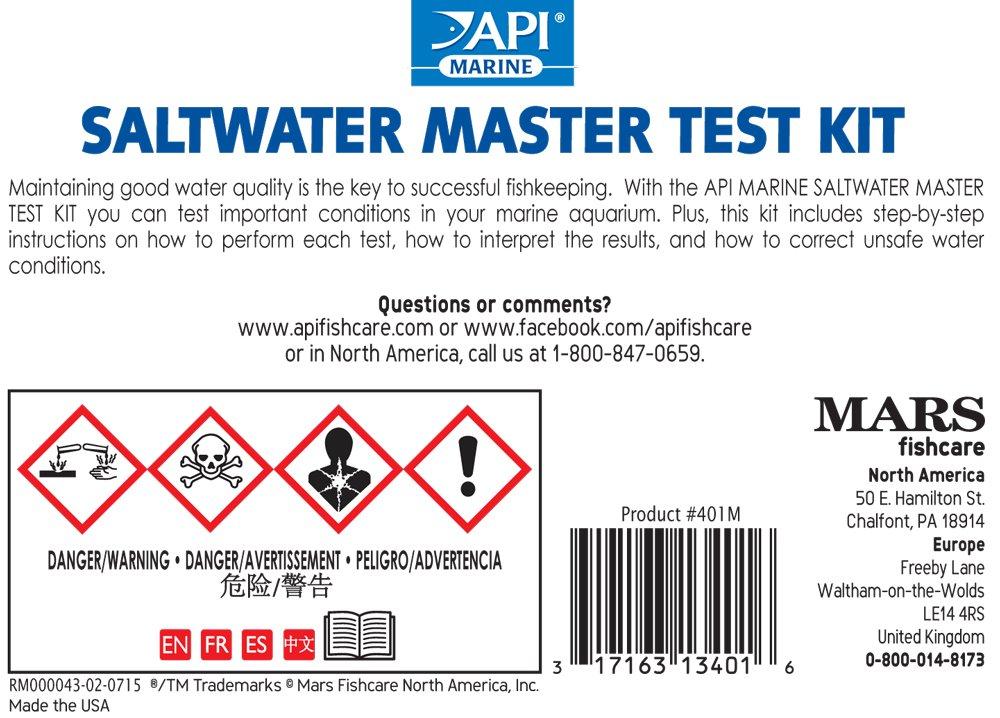 Amazon Api Saltwater Master Test Kit 550 Test Saltwater