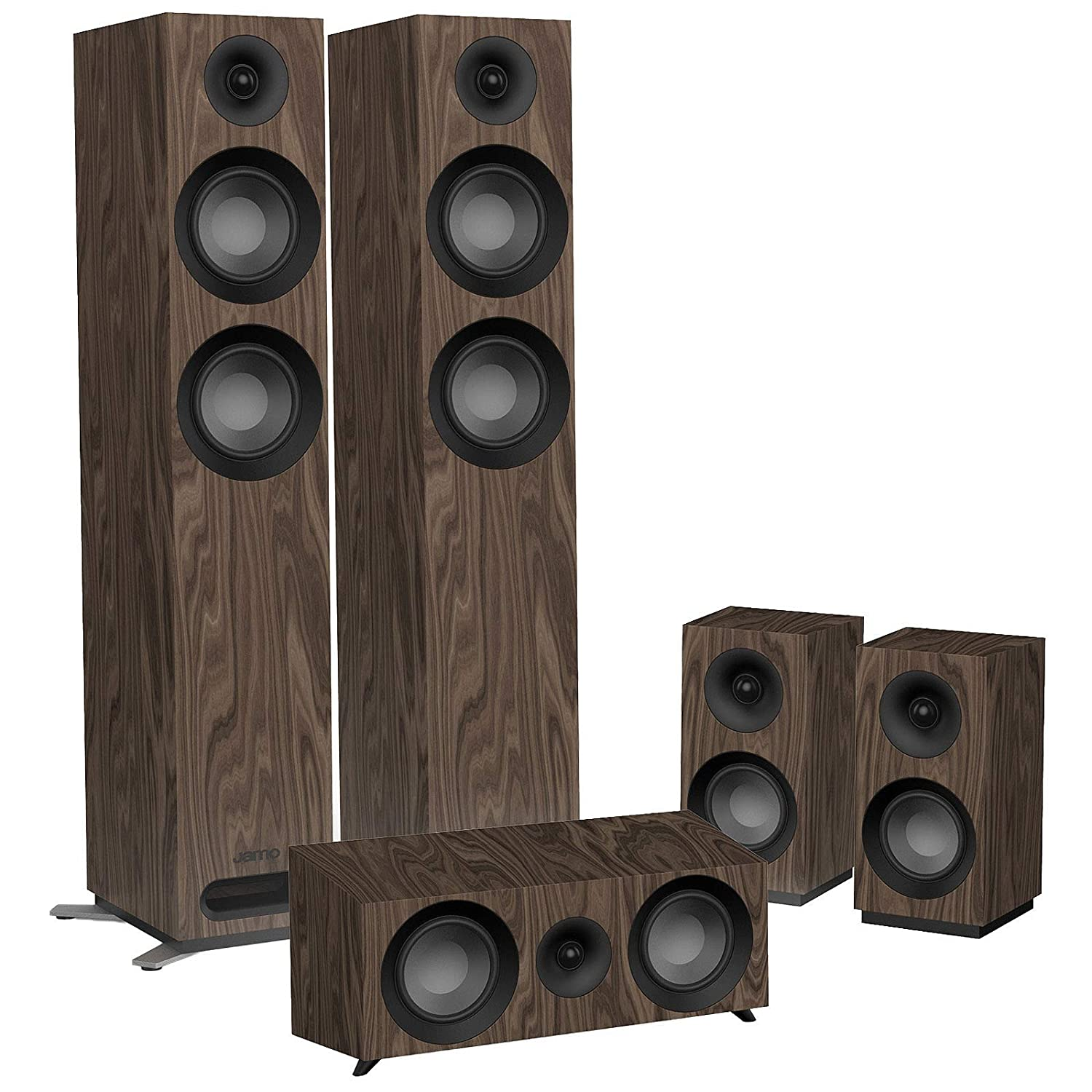 Jamo S 807 HCS Sistema Home Cinema, Marrone
