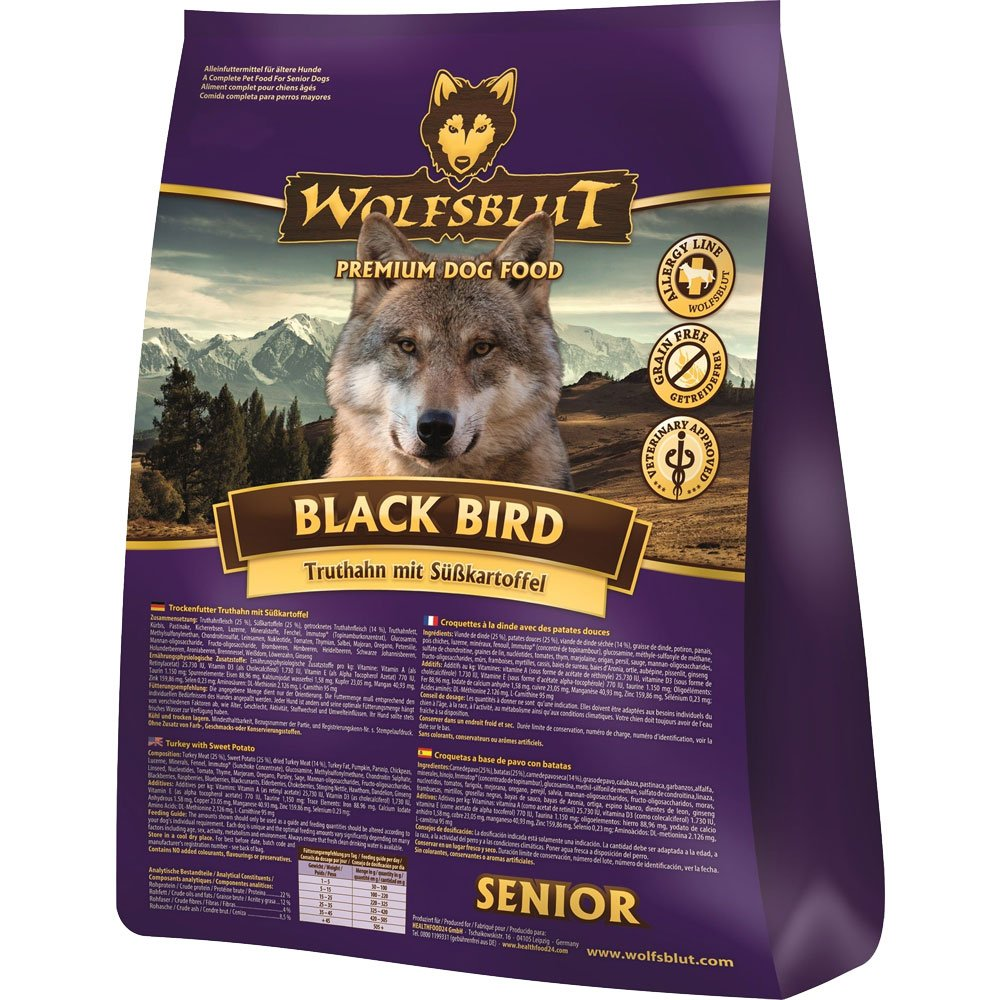 Wolf Black Bird sangre Senior, 1er Pack (1 x 2 kg): Amazon.es: Productos para mascotas