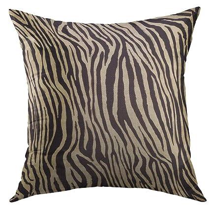 Enjoyable Mugod Decorative Throw Pillow Cover For Couch Sofa Black African Zebra Skin Home Decor Pillow Case 18X18 Inch Uwap Interior Chair Design Uwaporg