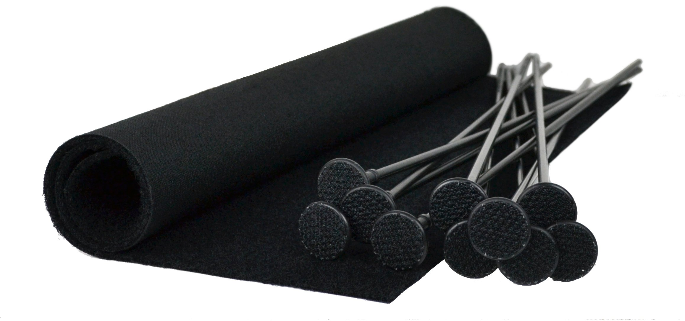 Gun Storage Solutions Pack of 10 Rifle Rods Starter Kit with Loop Fabric (15 x 19-Inch)