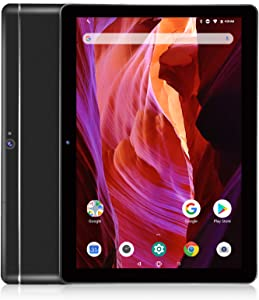 Dragon Touch K10 Tablet, 10 inch Android Tablet with 16 GB Quad Core Processor, 1280x800 IPS HD Display, Micro HDMI, GPS, FM, 5G WiFi, Black Metal Body