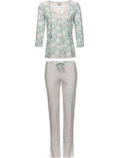 5966b88729a2c0 Vive Maria Cosy Baroque Pyjama beige melange/allover, Beige, S ...