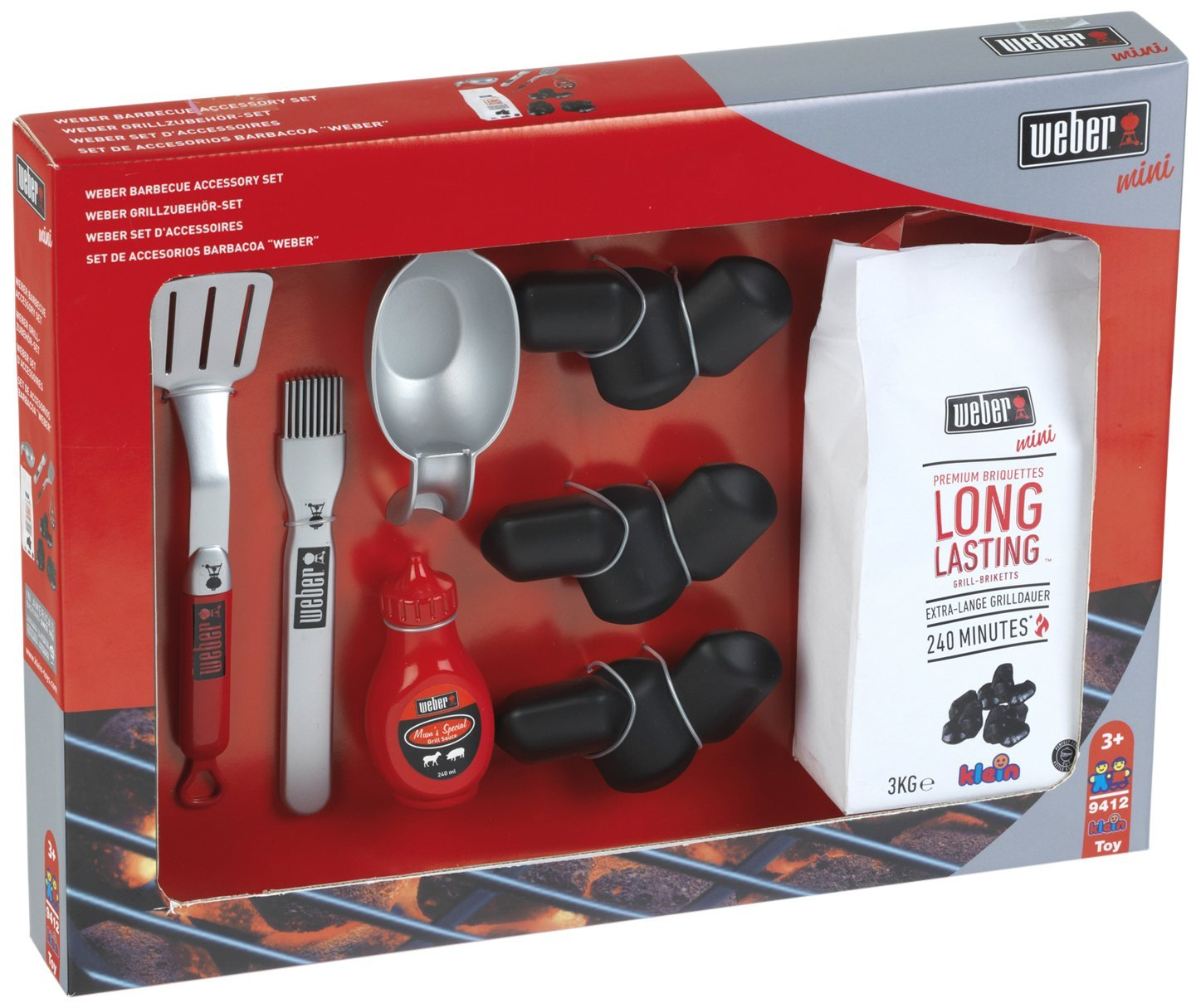 Theo Klein 9412 - Weber Set Accessoires Barbecue