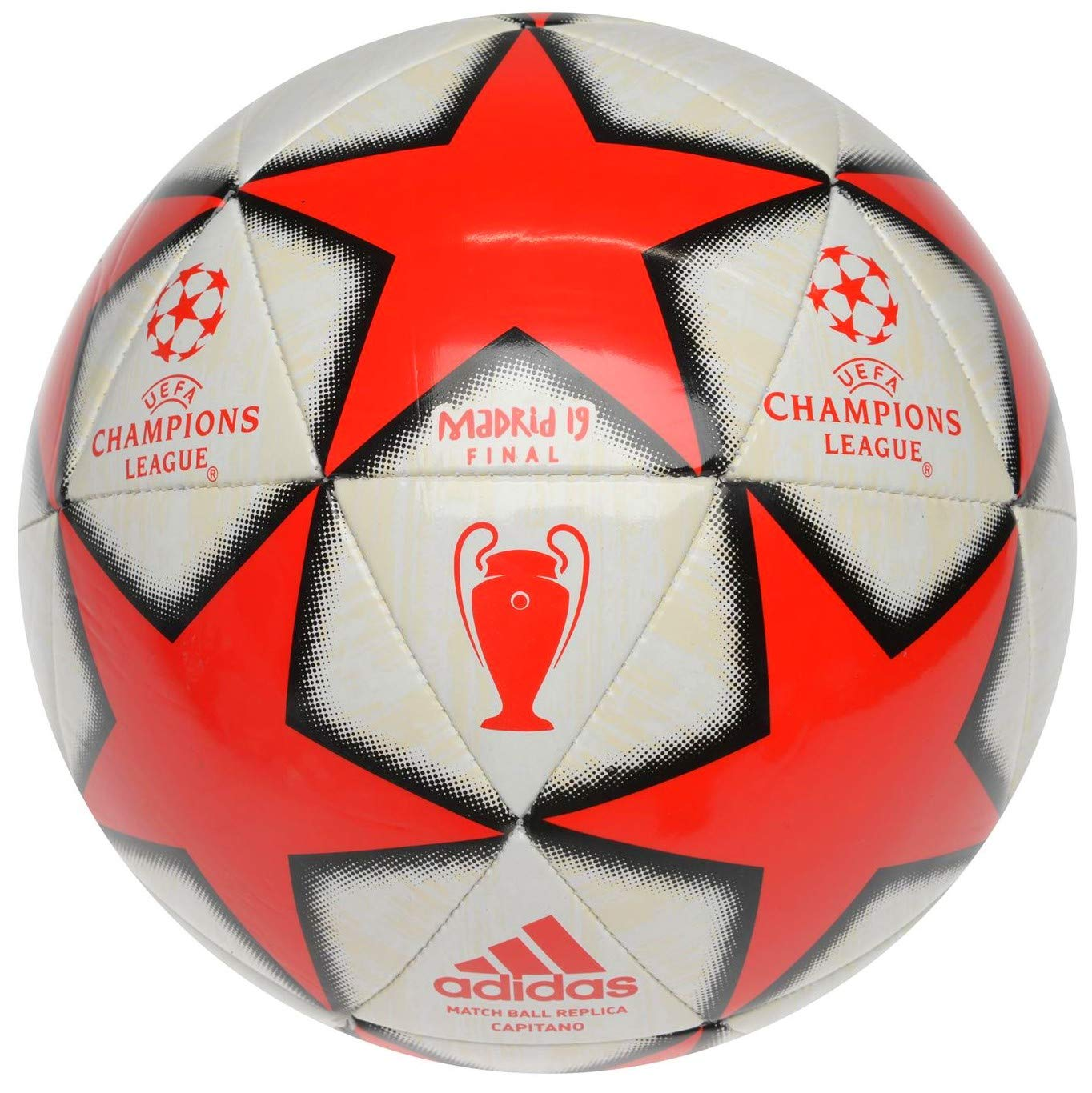 81e85d66e adidas 2019 Champions League Madrid Final Football Europe Tournament Ball  Size 3 Age 2-8 Years: Amazon.co.uk: Sports & Outdoors