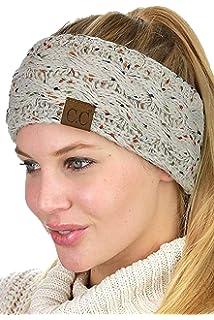 Schwarz /& Beige DealKits 2 St/ück Damen Gestrickt Stirnband Frauen M/ädchen H/äkelarbeit Winter Kopfband Haarband