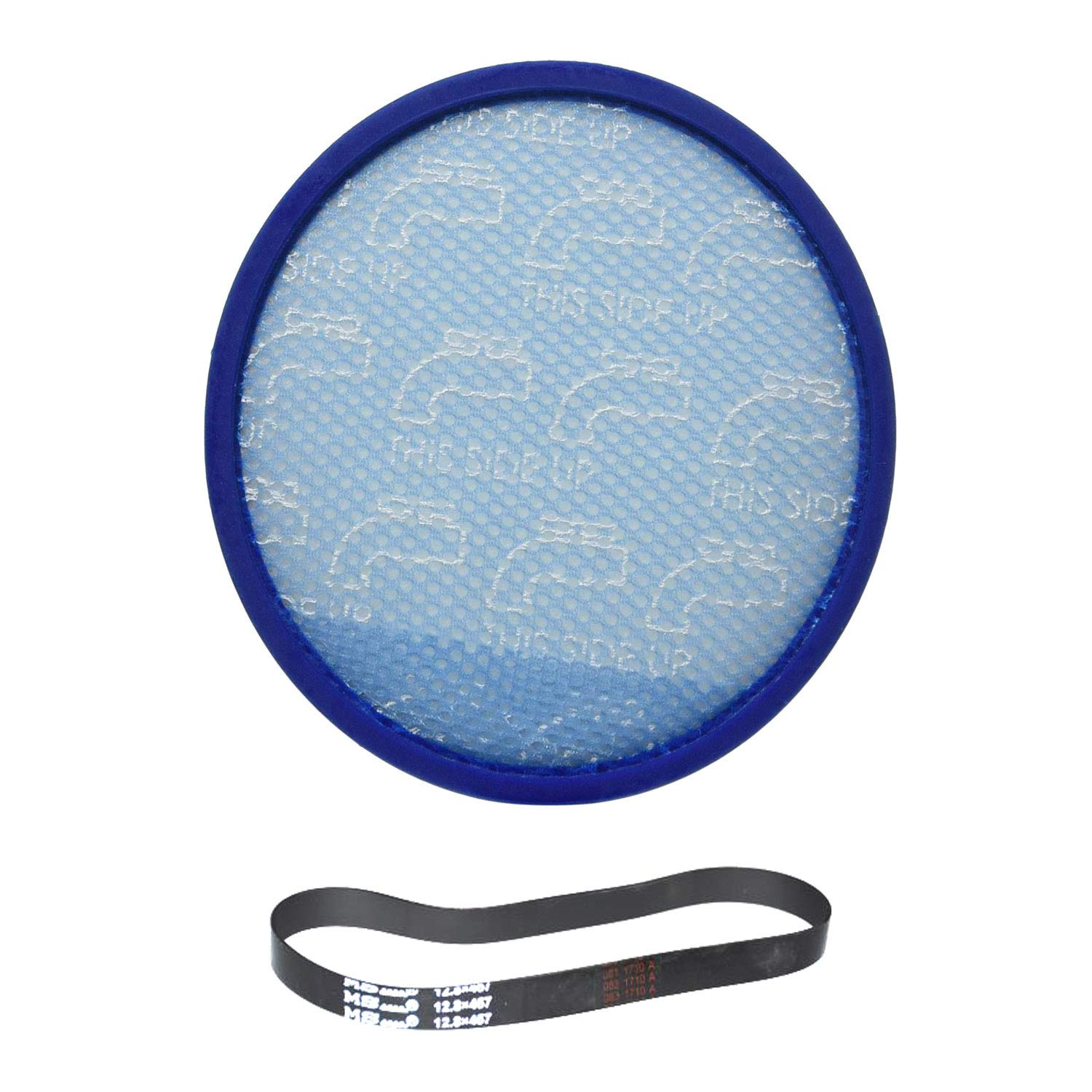 TVP Fit to Design Hoover Hoover Model UH72600 WindTunnel Max Mult-Cyclonic Bagless Upright Washable Primary Blue Sponge Filter With One Rewind Plus/MS.12.8X457 Belt