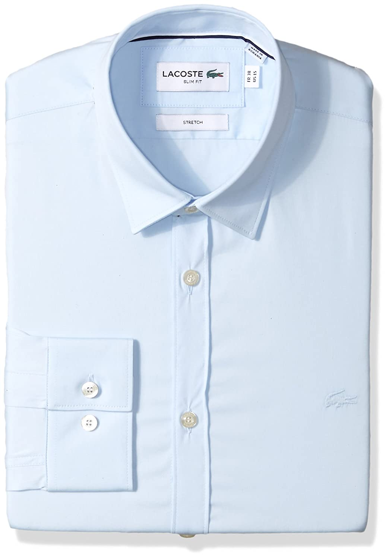 Lacoste Hombre CH9628-51 Manga Larga Camisa de Botones - Azul - 38 ...