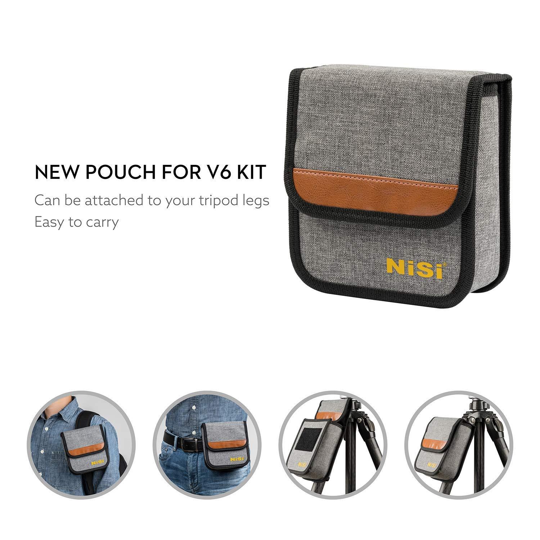 100 mm Kit de Soporte para Filtro de Sistema con Filtro polarizador Circular Mejorado para Paisaje NiSi V6