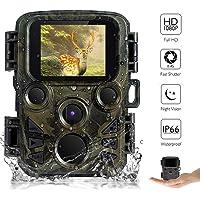 """AUPERTO Mini Wildkamera Fotofalle 1080P Full HD - 2.0"""" LCD mit 940nm IR LED's Sensoren mit Bewegungsaktivierung, IP66 wasserdichte Überwachungskamera für Wildtierjagd und Heimsicherheit"""