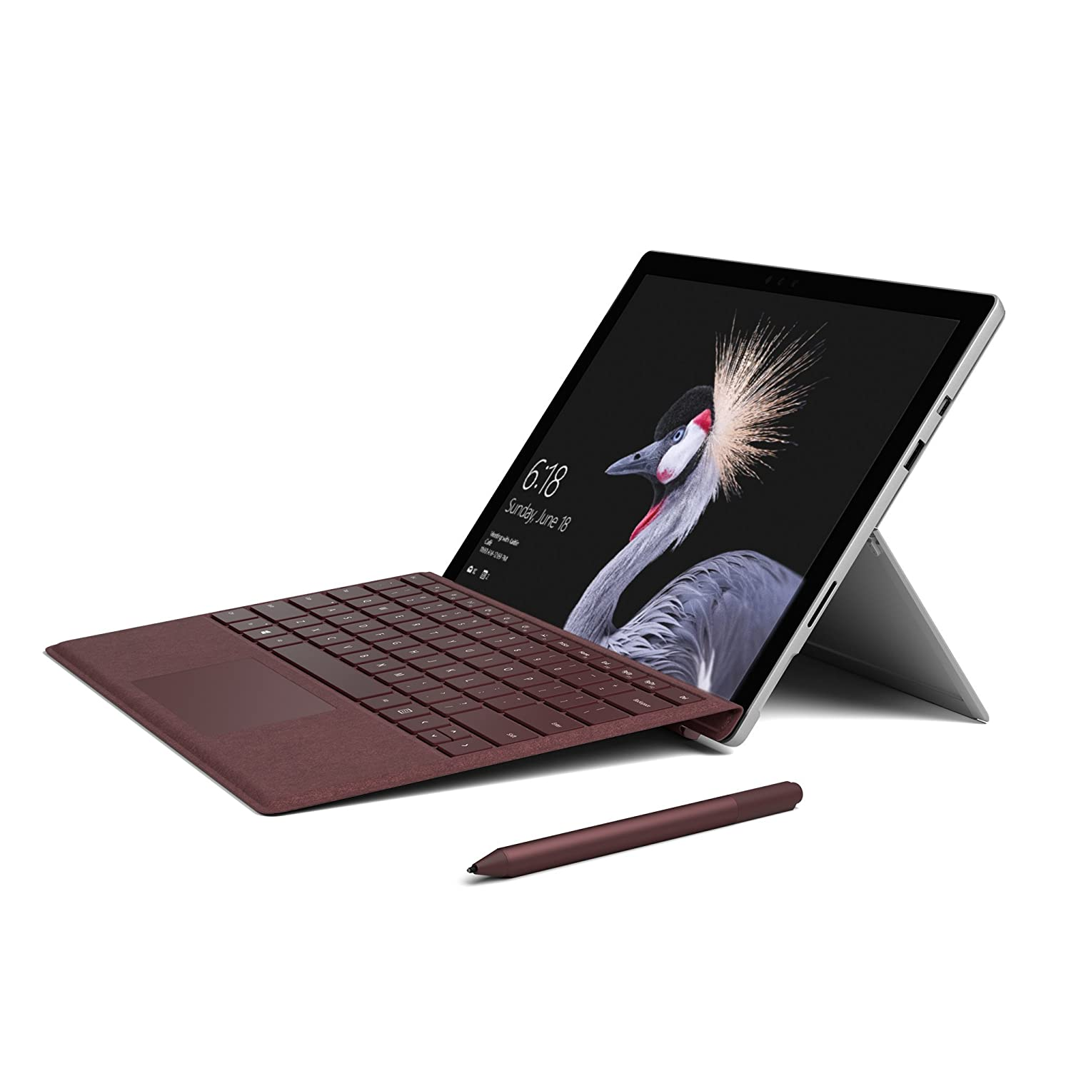 f28174a2c2b Amazon.com: Microsoft Surface Pro Signature Type Cover- Burgundy -  FFP-00041: Computers & Accessories