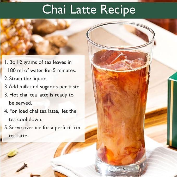VAHDAM, té Chala Masala Chai (100 tazas) | ESPECIAS 100% NATURALES | Receta de té de canela antigua | Hojas de té Chai con especias | Preparar té caliente, ...