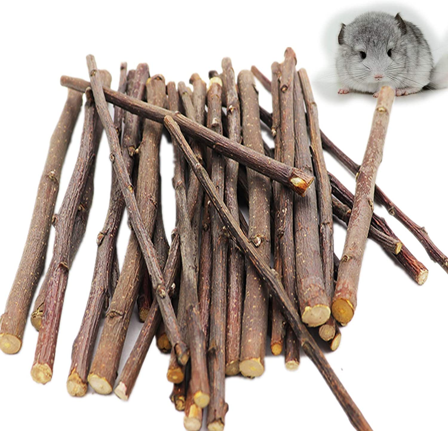 rosyclo Apple Sticks Natural Organic Pet Snacks Chew Toys Rabbits Hamster Guinea Pig Squirrels Chinchilla Food Gerbil and Other Small Animal Pets