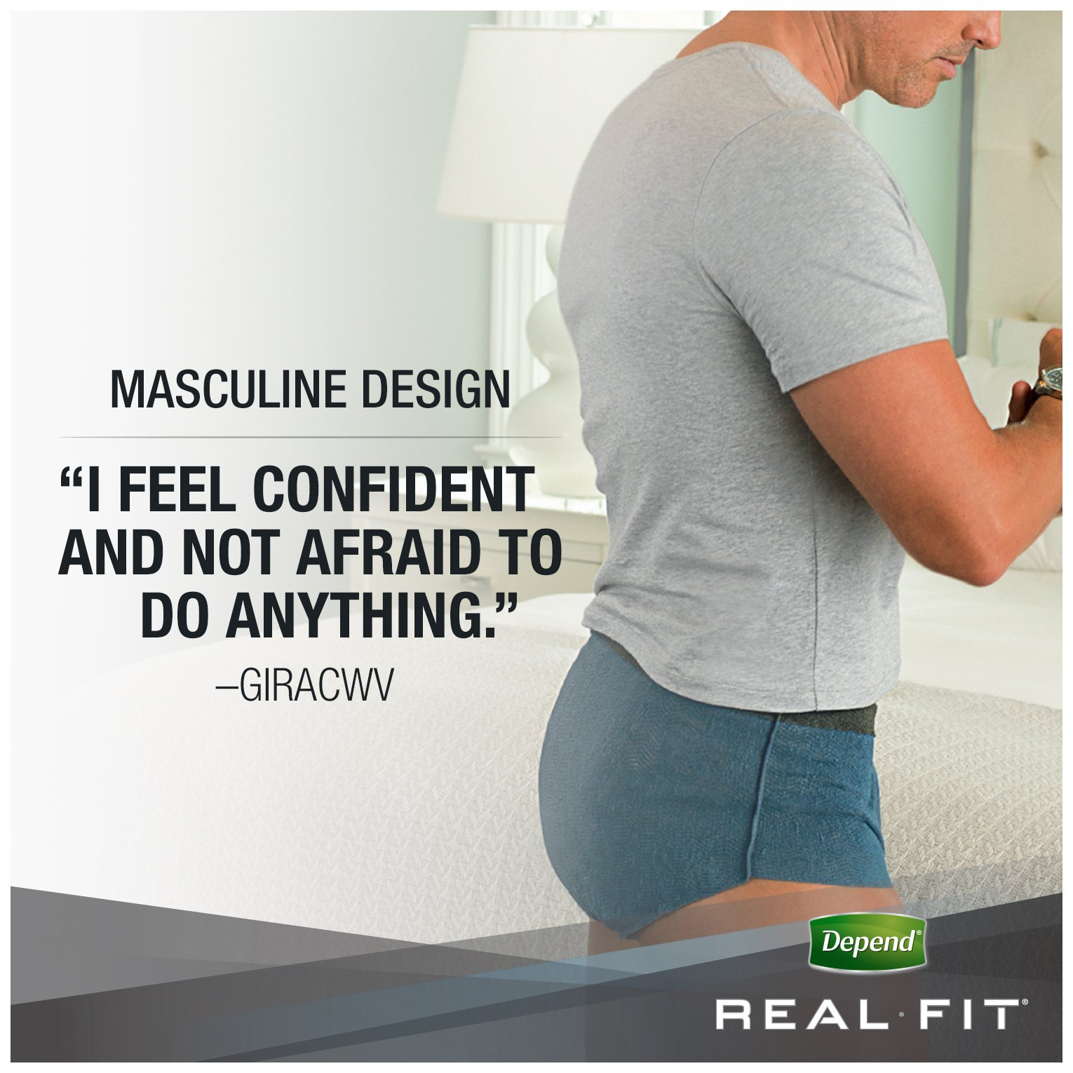 Depend Real Fit Incontinence Briefs for Men, Maximum Absorbency, S/M, Grey by Depend (Image #7)