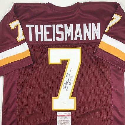 98154fbe346 Autographed/Signed Joe Theismann 83 MVP Washington Burgundy Football Jersey  JSA COA at Amazon's Sports Collectibles Store