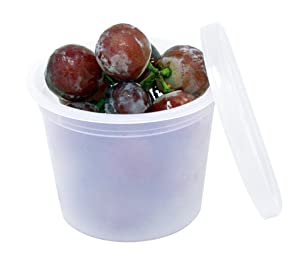Deluxe 4oz Deli Food Storage Containers Designed for Fridge and Freezer (50 Pack)