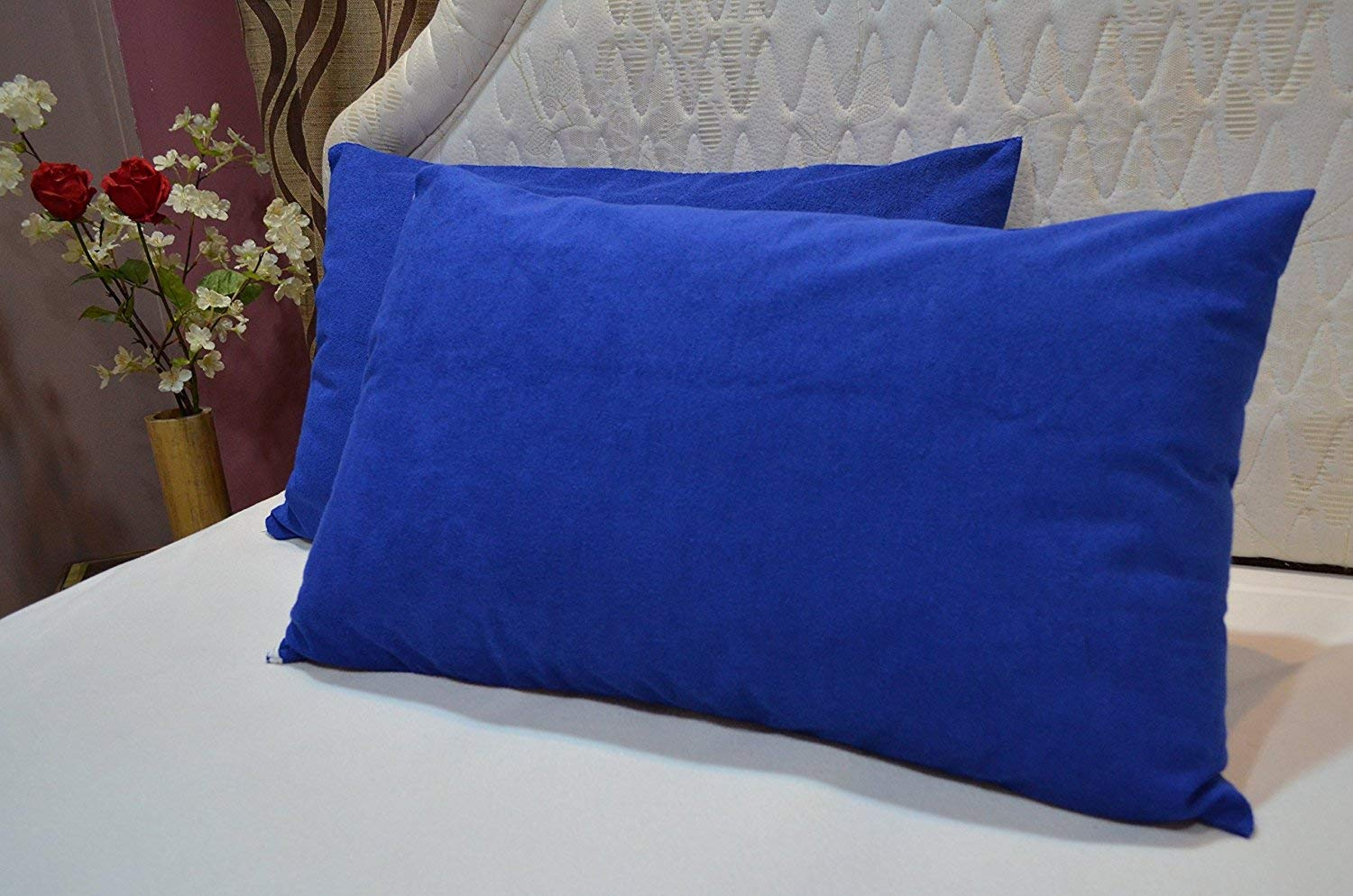 Buy Uppercut 100 Cotton Water Resistant Pillow Protector Set Of 2 Cobalt Blue 18x28 Inches Online At Low Prices In India Amazon In