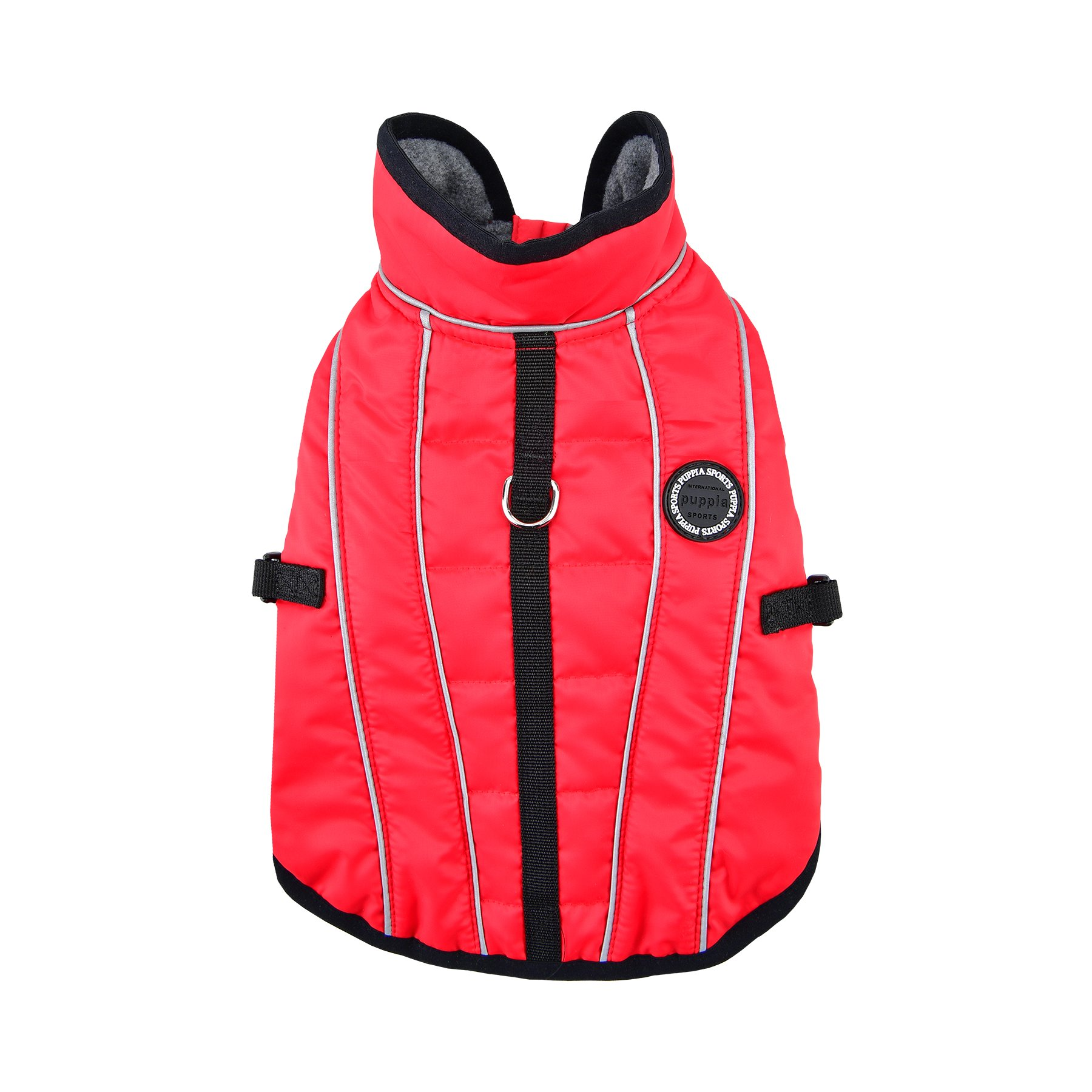 Puppia Expedition Pet Coat, Large, Red