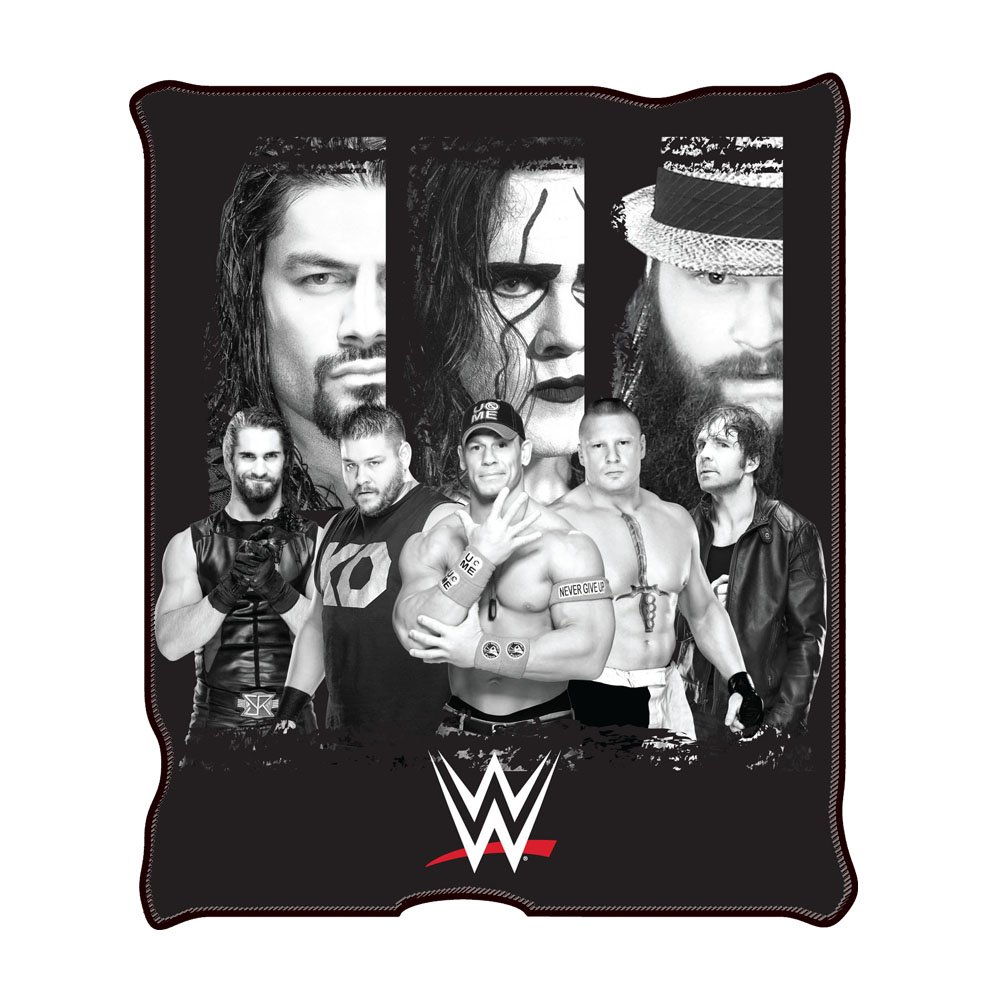 Silver Buffalo WE0621 WWE All Stars Fleece Throw Blanket, 50 in. x 60 in