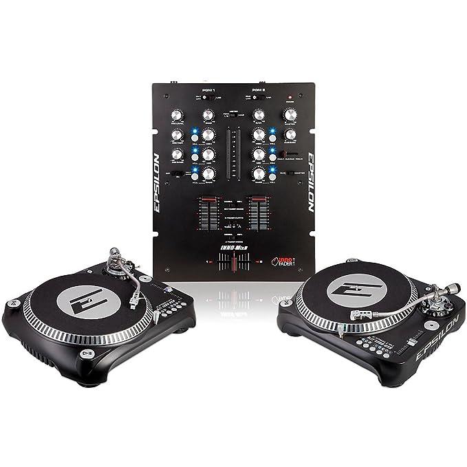Amazon.com: Epsilon inno-propak djt-1300 Tocadiscos USB (2 ...