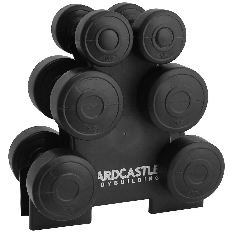 hardcastle 12kg dumbbell weight set u0026 rack amazoncouk sports u0026 outdoors