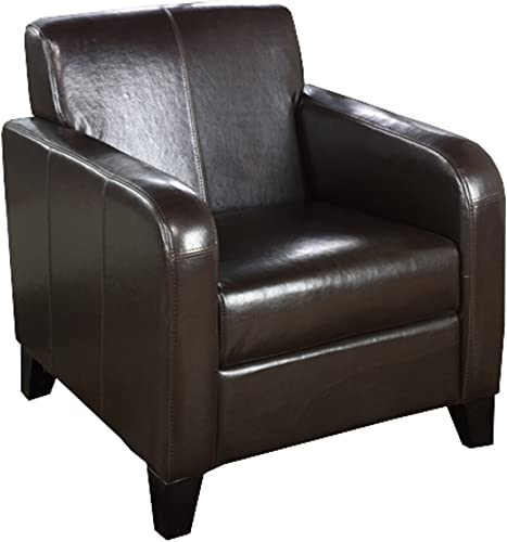 Armen Living 1400 Faux Leather Club Chair