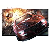 """84"""" Projector Screen, 84 Inch Diagonal 16:9 Projection HD Foldable Screen Home Theater Widescreen Projector Screen For Travel PPT Business Presentation"""