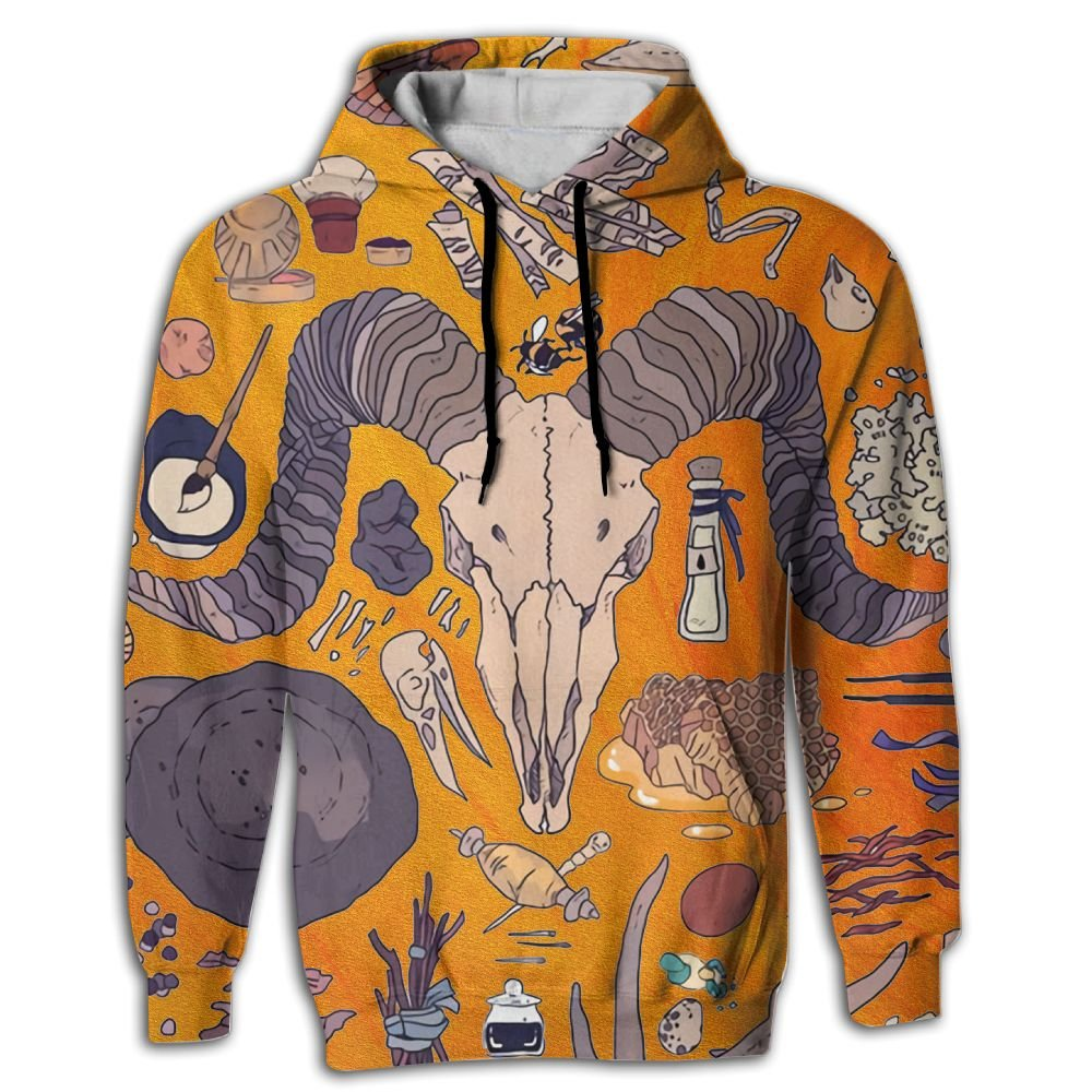 Unisex Art Prints 3D Printed Pullover Long Sleeve Fleece Hooded Sweatshirts with Pockets