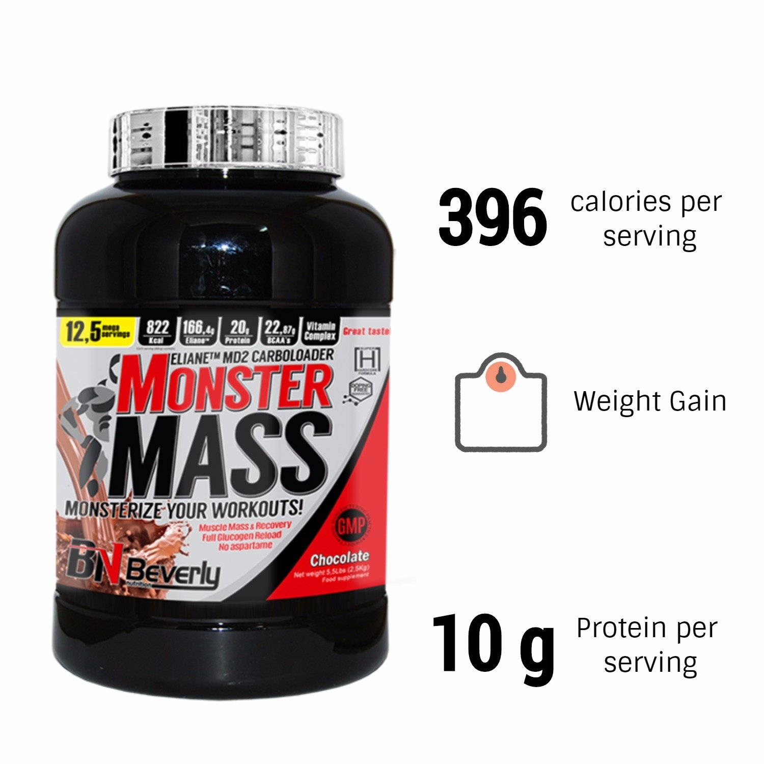 Beverly Nutrition Exclusive para Monster Mass Weight Gain ...