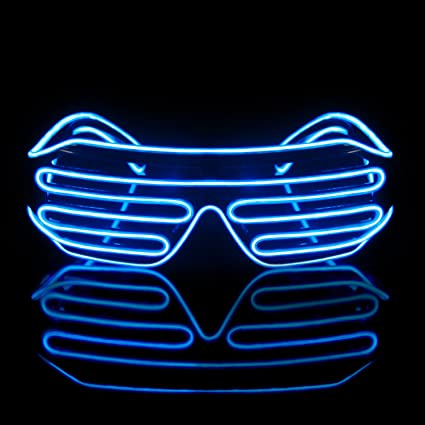 ba9d2200d5c Image Unavailable. Image not available for. Color  Led Light Up Neon  Shutter Party Glasses ...
