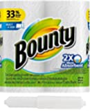 Bounty Select-a-Size Paper Towels, White, 2 Huge Rolls, Bonus of Prestee Toilet Paper Roller