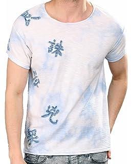 Red Bridge Men T Shirts Bullet Holes: Amazon.co.uk: Clothing